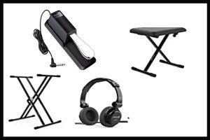 accesorios pianos y teclados